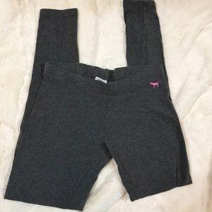 💖Victoria's Secret PINK cotton leggings w/logo💝
